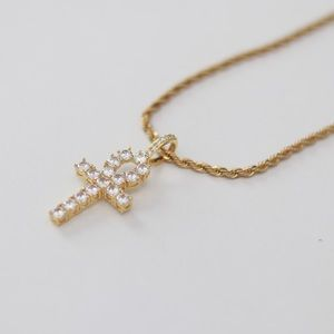 Other - Gold cross + chain